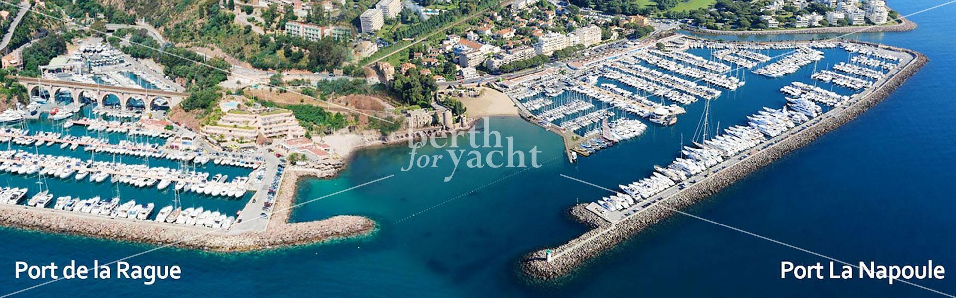 Place de yacht Port de la Rague Mandelieu
