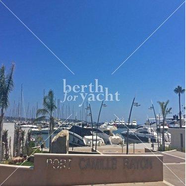 Emplacement pour Yacht à céder Port Camille Rayon Golfe Juan Côte d'Azur