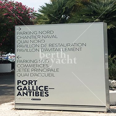 Emplacement pour yacht à céder port Gallice cap d'antibes Côte d'Azur